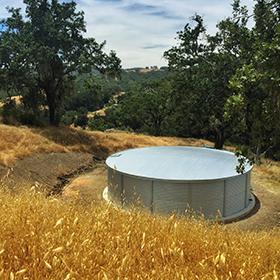 Napa Sonoma potable drinking water storage tanks